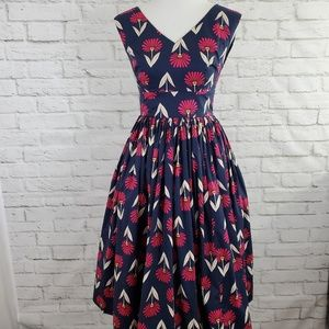 ModCloth Fit and Flare Retro Pin Up Style Dress